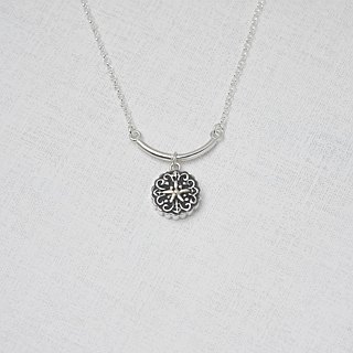 Moon Cake (Silver Necklace Silverware) ::C% Handmade Jewelry::