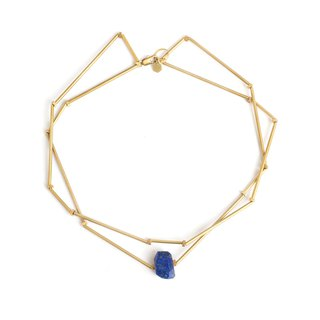 Polygon Lapis Necklace Lazurite polygon necklace
