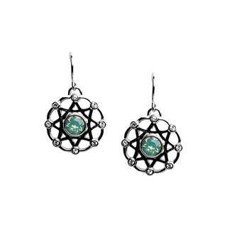 The Saga Earrings 925 Silver Swarovski Crystals WM5E