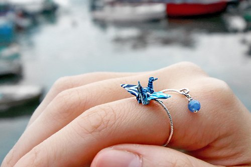 Mini cranes Crystal Ring (Moonlight streamer) - Valentine's Day gift