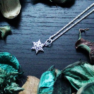 Northland Snowson Series - Meteor Silver Snow*Souphenir*Sterling Silver Necklace
