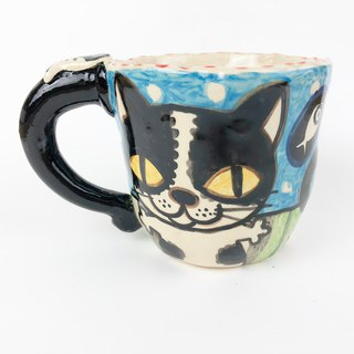 Nice Little Clay Handmade Big Cup Cat 0103-20