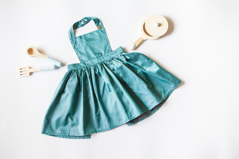[my little princess] staff hand made malachite green aprons skirt _ Japanese lightweight splash cloth