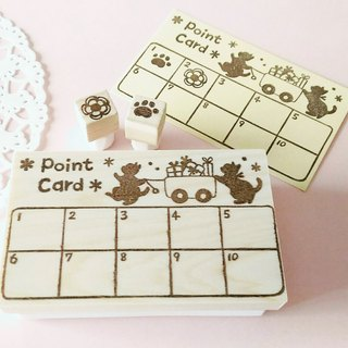Point card stamp (cat)