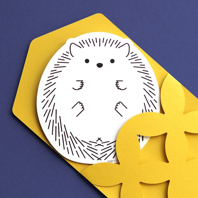 """Peek- a-boo"" Message Card / Hedgehog"