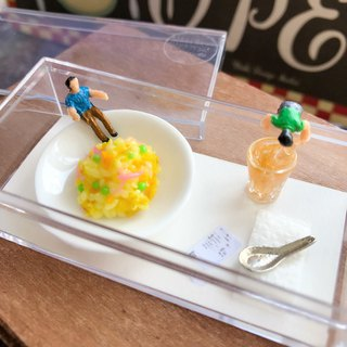 Japanese resin clay hand made her always eat overnight meal