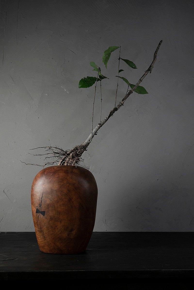 手工木製花器花瓶插花花藝擺飾014號武陵山高山櫻桃木
