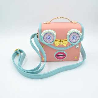 TIMBEE LO Eye Monster Pink Box Bag Bag Bag Lake Blue Shoulder Bag