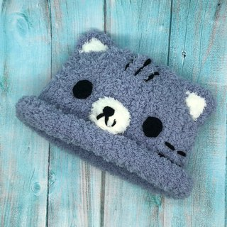 Gray Cat - Wool Knit Baby Woolen Hat Mi Yue Li Years Gift Christmas Gift