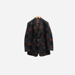 Dislocation vintage / Plaid coat no.350 vintage