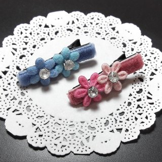 【POPO ABBY】HAIR ACCESSORIES SET PINK&BLUE HANDMADE