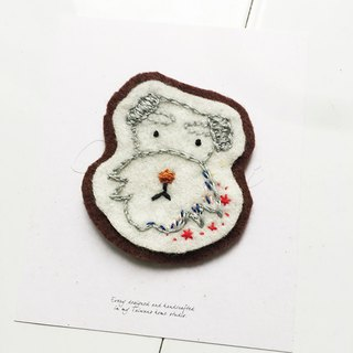 Cha mimi. Hand embroidery Love embroidery! - Pin x Schnauzer Wangxing
