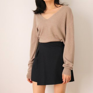 Nov Sweater beige Camel V-neck light wool sweater multicolor