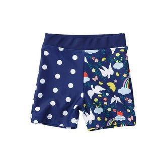 Japanese original design children's swimming trunks - Rainbow Bird (100/110)