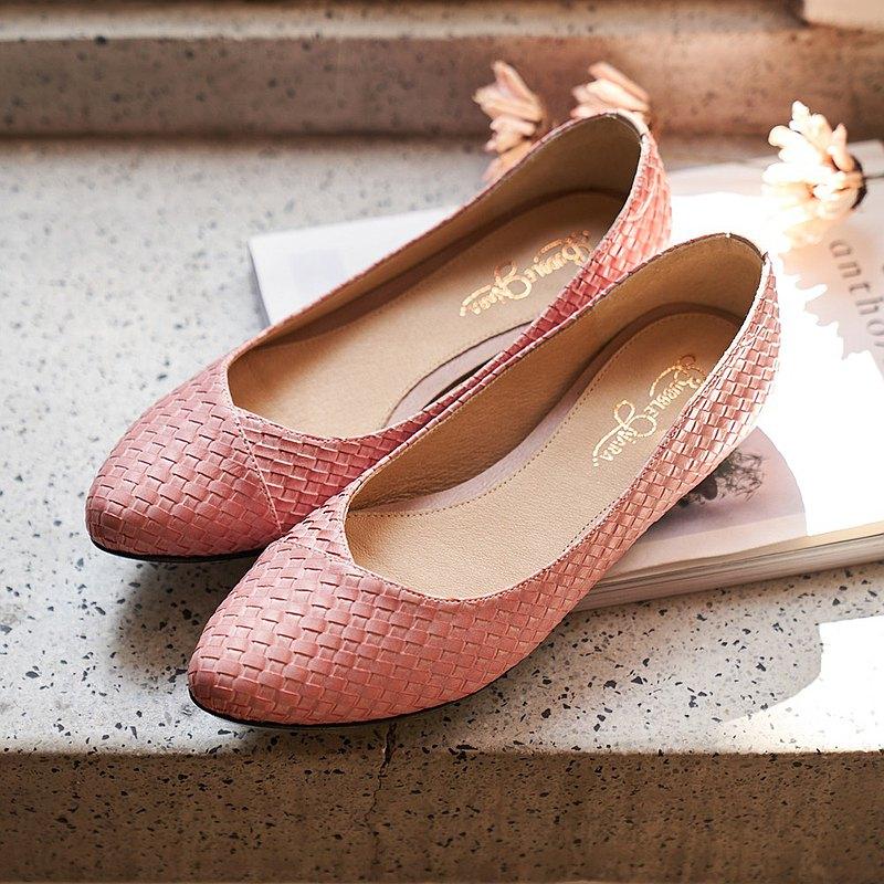 慢四步製作所尖頭鞋-花瓣粉