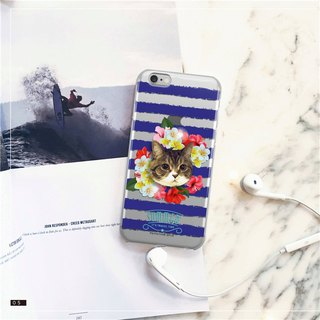 Original Pet Mobile Shell x Customized (Blue x White Summer Flowers) iPhone, Android