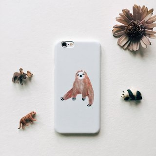 Zoo series sloth beige matte phone matte hard shell