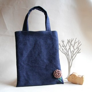 Cotton Fabric: Canvas  bag,Knitting flower,blue jeans