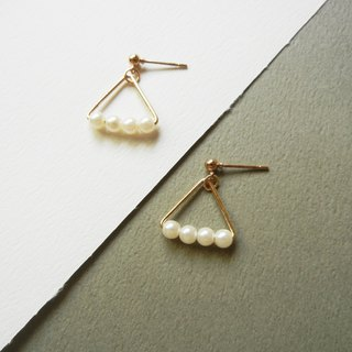 *coucoubird*rice pearl earrings