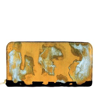 RUST GOLD Zip Around Wallet