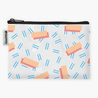 Snupped Zipper - Accessories Pouch - Memphis Punk Pattern on White