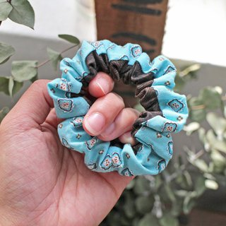 Hand made small hair scrunchy- The Bricks and soil