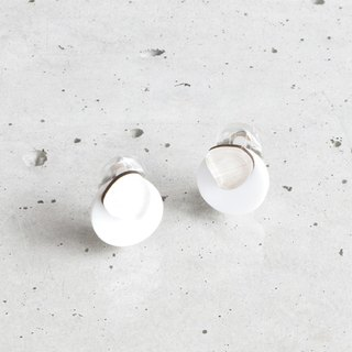 koishi plate earrings / WHITE