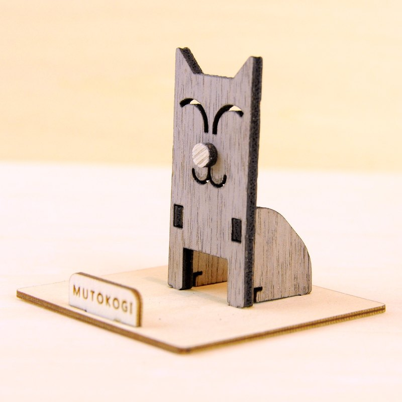 Smile Mimi Cat X Handmade Wooden Phone Holder Mobile Phone Holder