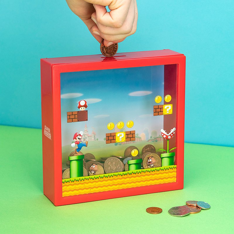 Super Mario Bros. Money Box Coin Bank, 18cm Height