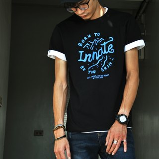 [] Mountain INNATE short Tee - Black