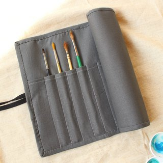 Plain color painting bag / pencil bag tool storage bag piping 巻 ス ス ス watercolor cookware
