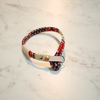 Cat collars, Exclusion from Japan Fabric, Red/Yellow Duck