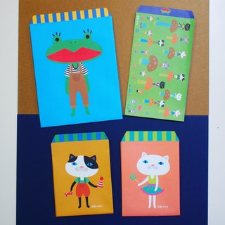 E*group gift bag envelope with 10 frog cats