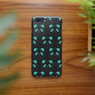 iphone case blue panda on black for iphone5s,6s,6s plus,7,7+, 8, 8+,iphone x