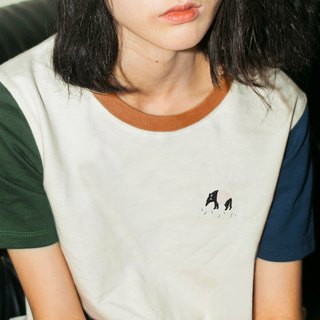 tapir - embroidery crop top tshirt