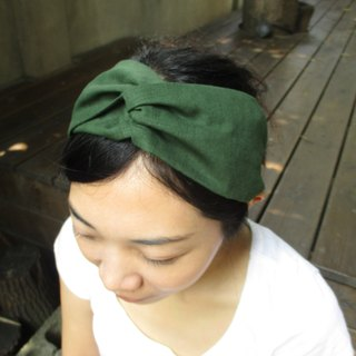 Cross hair band (smooth hand) - dark green