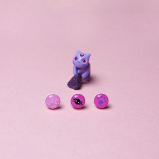 Exclusive Product - Lilac Mystic Cat Earrings