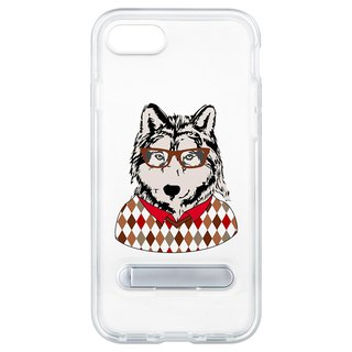 Glasses wolf hide magnet bracket iPhone 8 7 6 plus phone case phone case case