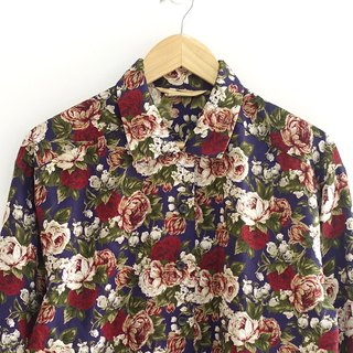 │Slowly│ flower - vintage shirt │vintage. Vintage. Art. Made in Japan