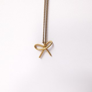 Bow Brass Necklace