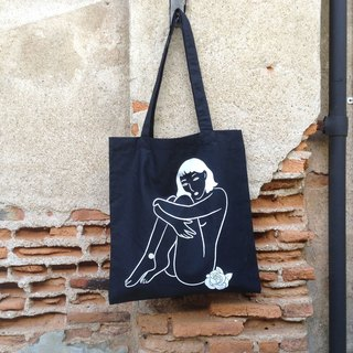 "Tote Bag ""Naked Lady"" (Black)"