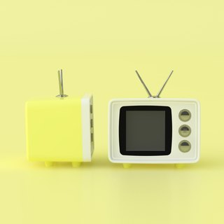 snapTV small TV digital photo frame - cream yellow (Japanese limited edition)
