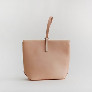 Vegetable tanned leather wrist simple atmospheric handbag woman bags big bag ladies, Ms.