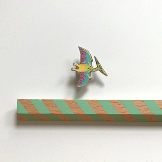 NEW: PTERODACTYL DINOSAUR ENAMEL PIN BADGE
