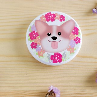 Ke Jijun animal wreath with round mirror