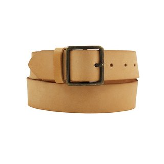 FULLGRAIN │ Italian vegetable tannery leather leather belt 4cm - old gentleman Japanese word buckle