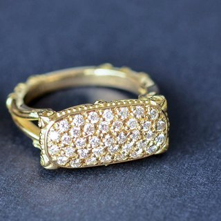 K18YG×Diamond 0.37ct  Chaise