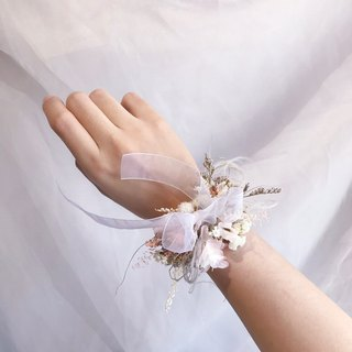 Wrist Flower - Bride Wrist Flower Lace Ribbon