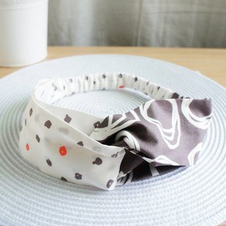 Lovely [Korea dot circle double color geometry] butterfly elastic hair band, hair ring