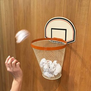 Japan Magnets shooting practice small basket trash can / storage bucket (meter white) 1L-spot